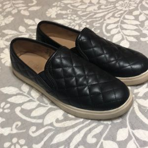 Faux Leather Slip-on Sneakers